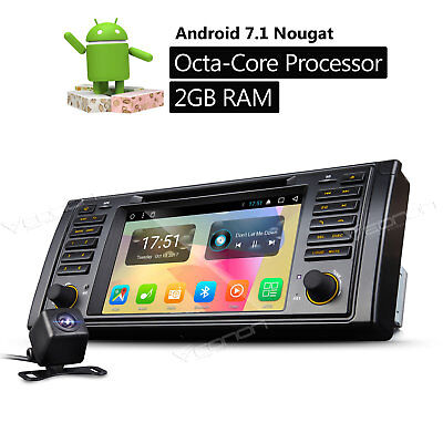 Cam Android 7.1 8Core Car DVD GPS for BMW E39 WIFI Player Touch Screen Octa Core