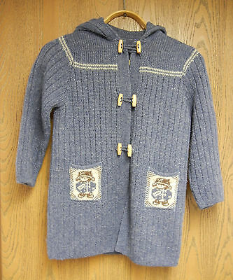 Vintage Collectible PADDINGTON BEAR Little Girl's Blue Sweater, Made in England
