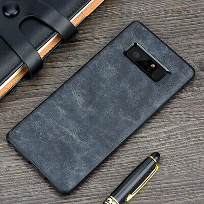 For Samsung Galaxy Note 9 8 S9 S8+ Luxury Leather Thin Slim Hard Skin Case Cover