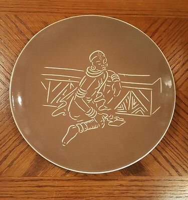 Vintage DROSTDY Ware Nogbele Woman Plate France Marot South Africa