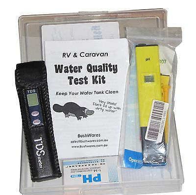 Water quality test hardness acid plastic tank hotwater life RV caravan camping
