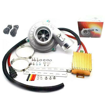 Universal Electric Turbo Supercharger Charger Kit Thrust Motorcycle Car US Stock