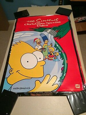 The Simpsons Christmas Special Video Poster video store rare vintage 1991