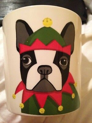 Ceramic Boston Terrier Large Coffee Mug Cup NEW Bistro size 18 oz GREAT GIFT HTF