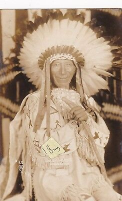 Old Photo Postcard Sioux Indian Chief Crazy Horse Native American Lakota