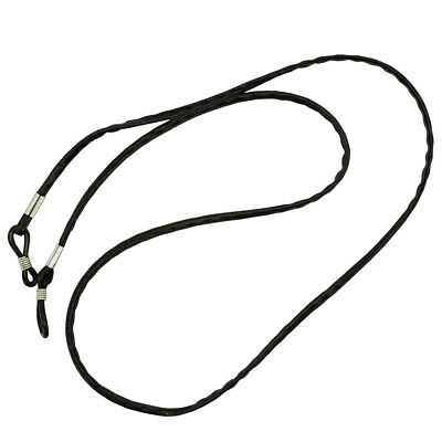 Spectacles Eyeglasses Chain Neck Cord Rope Strap Leather Alloy Ends Neck