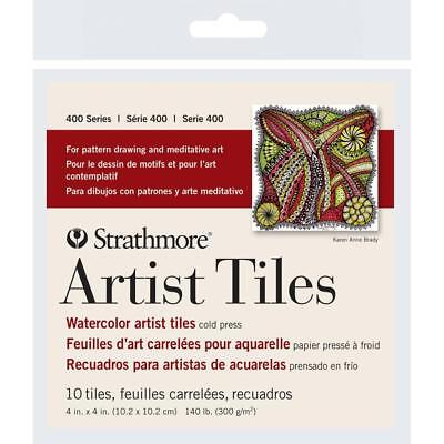 Strathmore Artist Tiles Watercolor Cold Press 4 Inch x 4Inch