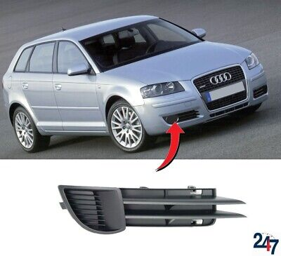 New Audi A3 8P 2003 - 2008 Front Bumper Lower Fog Light Grill Cover Right O/s