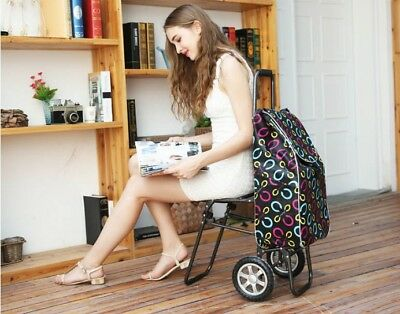 D165 Rugged Aluminium Luggage Trolley Hand Truck Folding Foldable Shopping Cart