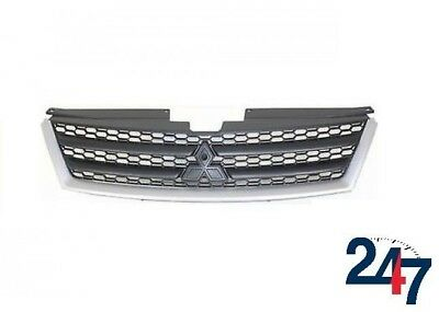 New Mitsubishi Outlander 2007 - 2009 Front Center Grill Center Black With Chrome