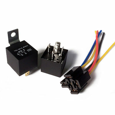 Automotive Car Alarm 40A Car Relays Socket Wires Relay SPDT Wiring Harness