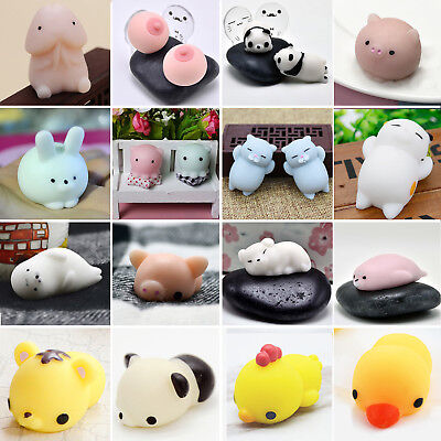Cute Novelty Animal Squishy Squeeze Toys For Anti Stress Relief Kids Toy Gift BE