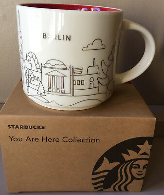 Starbucks City Mug Cup YOU ARE HERE Christmas 2017 Berlin / Germany 14 oz  1 Mug