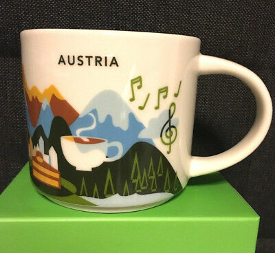 STARBUCKS City Mug AUSTRIA Tasse You are Here YAH Becher Kaffee neu SKU