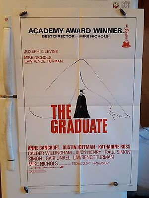 """The Graduate 1972 One Sheet Original Movie Poster 27"""" X 41 R72/171 Re-Release"""