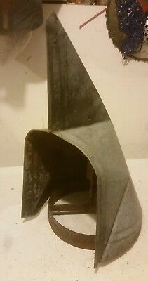 vintage galvanized metal barn roof spinning exhaust vent directional cupola