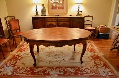 French Oval Dining Table and Chairs