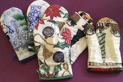 New Christmas Oven Mitts X 6