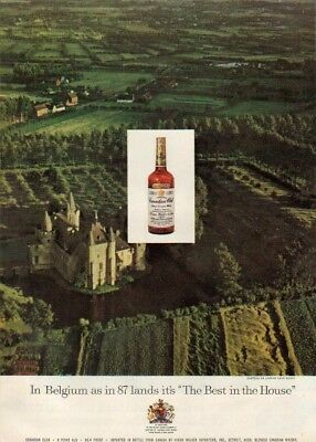 1958 Chateau de Laerne Ghent Belgium Canadian Club Ad MMXV