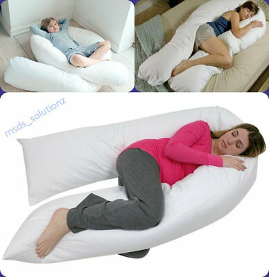 12ft U-SHAPED PILLOW FULL BODY BACK SUPPORT MATERNITY PREGNANCY SLEEPING COMFORT