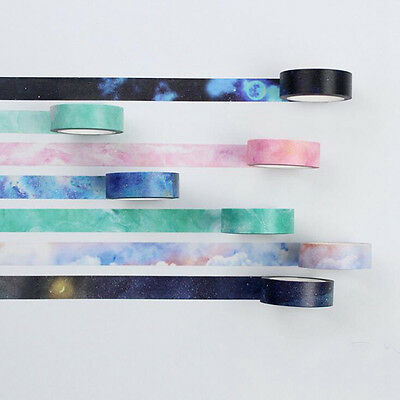 Washi Tape Set Masking Tape Scrapbook Paper Adhesive Sticker DIY Handcraft Decor