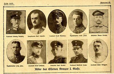 WW I Knights of the Iron Cross  German Hero Public Notice from: 1918.45