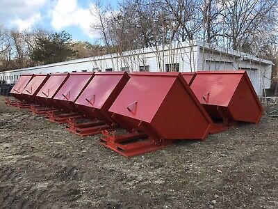 SELF DUMPING HOPPER, Standard Duty, 1/2 Yard - 3 Yard Sizes, 4000 LB Capacity
