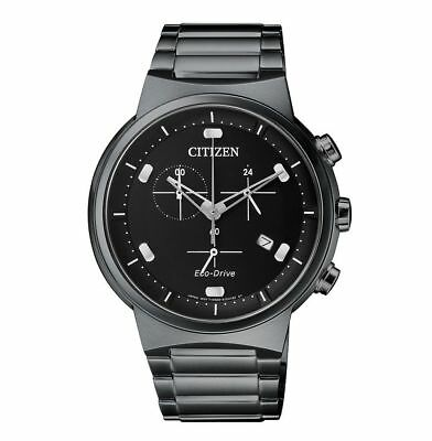 Citizen Eco-Drive Analog Chronograph Solar Datumsanzeige Herren-Uhr AT2405-87E