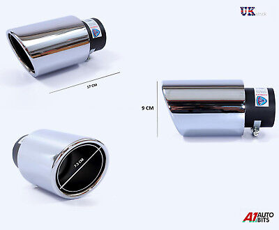Sport Chrome Universal Muffler Tip Trim Exhaust Tail Pipe Fit 35-60Mm