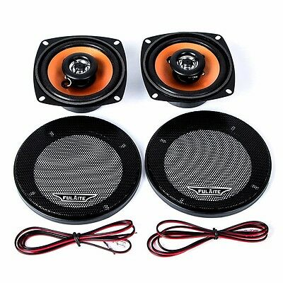 Univeral 2Pcs 4.0 Inch Car Coaxial Speaker Paired Audio Loudspeaker High Energy