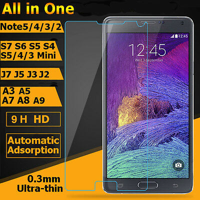 Tempered Glass for Samsung Note Screen Protector Color for A9
