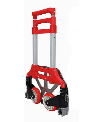 D22 Rugged Aluminium Luggage Trolley Hand Truck Folding Foldable Shopping Cart