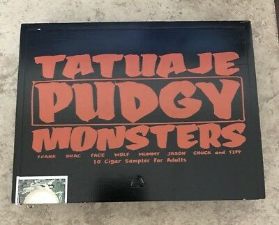 Tatuaje Pudgy Monsters !! Cigar Box Empty . Plus Extras