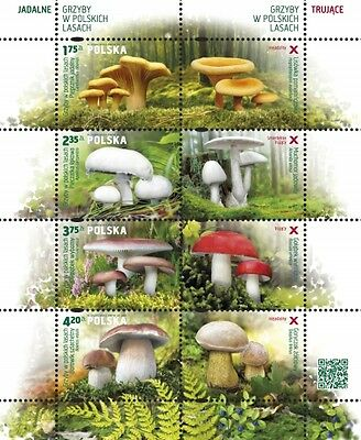 POLEN 2014  Klb Mushrooms of the Polish woods(2014; Nr kat.:4545-4548
