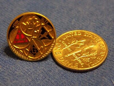 Vintage Freemason Masonic York Rite Lapel Pin