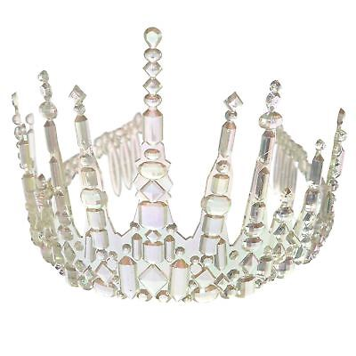 Ladies Frozen Icicle Crown Tiara Ice Queen Fairy Christmas Fancy Dress Accessory