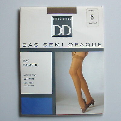Stockings. Bas mousse DD 20 Deniers coloris Deauville. Taille 5.