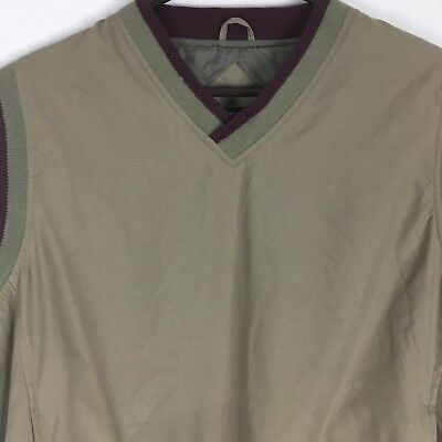 Holloway Lifestyle Collection Mens Vest Large L Beige Polyester Golf Lined L18