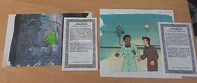 2  Lot Ghostbuster  Production Cel  Matching Pencil Drawing