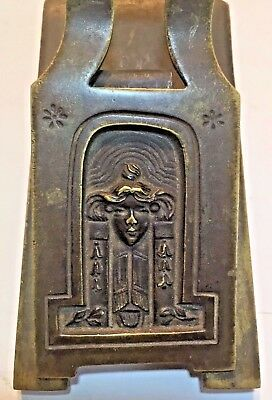 Large Art Deco / Art Nouveau Figural Paper Clip Holder