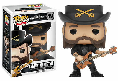 "Motorhead Lemmy Kilmister 3.75"" Pop Rocks Vinyl Figure Funko Brand New 49"