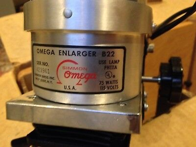 Simmons Omega B-22  Photo Enlarger w/ 2 Rodenstock Lenses New 1970 complete NIB