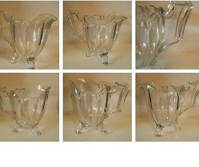 Vintage  Art Deco Style  Glass Jug  - - 3 Footed