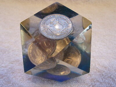 Ecuador Coin Paperweight - Free Ship