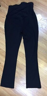 NWT Isabel Maternity Womens Black Pants Crossover Panel Casual Size 10  $35