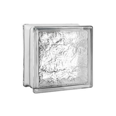 "7.75"" x 7.75"" x 3.12"" Ice Pattern Glass Block 1.89 RValue In Or Outside 10 Pack"
