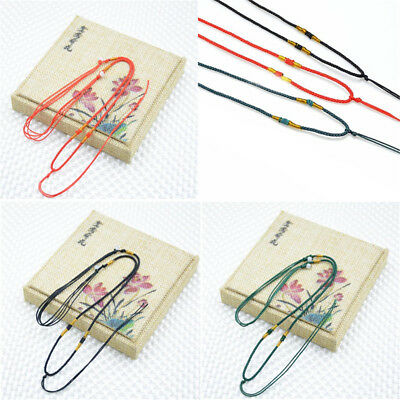 5/10pcs Handmade Braided Line Rope String Cord Jade Beads for Pendant Necklace