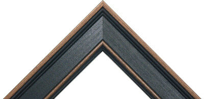 """Rustic Black Poplar Picture frame great for 3/4"""" canvas, (different sizes)"""