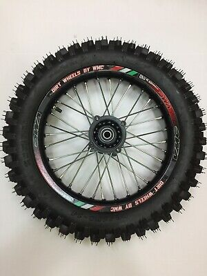 "RUOTA CERCHIO 14""COMPLETO Anteriore SDG 15mm Cross 60/100-14 Per Pit Bike"
