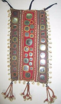 VINTAGE Authentic Banjara TRIBAL Textile PATCH GALLA Cowrie Shell Handmade 577